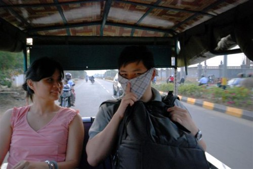 Very dusty and my nose is very sensitive so I used my hanky to cover my face, hehe...