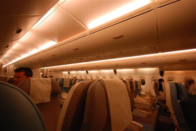 Singapore Airlines SQ318 Airbus A380 Cabin