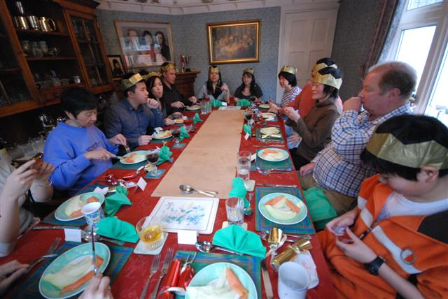 Christmas Day. Check out the influx of relatives!