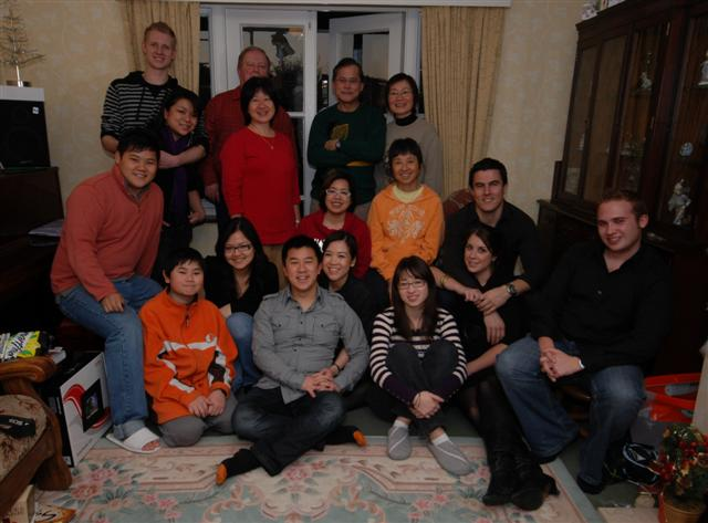 Group photo of the extended family.